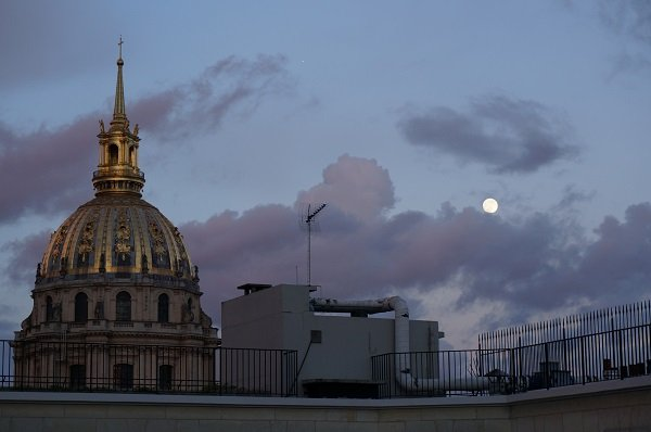 Moon Over the Dome